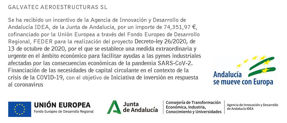 Financiación Pública y Ayudas - Galvatec Aereoestructuras